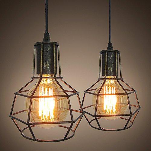 an Essen Hängeleuchter Kronleuchter Beleuchtung Cage Bar Light Industrial Wind Anzahl: 1 ()