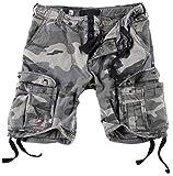 Surplus Hombres Airborne Vintage Pantalones Cortos Lavado Night Camo tamaño S