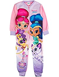 Girls Fleece Character Onesie Pyjamas Childrens All In One Pj's Size UK 1-8 Years