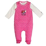 SALT AND PEPPER Baby-Mädchen Strampler BG Playsuit Allover Käfer, Rosa (Soft Pink 858), 56