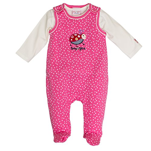 SALT AND PEPPER Baby-Mädchen Strampler BG Playsuit Allover Käfer, Rosa (Soft Pink 858), 62