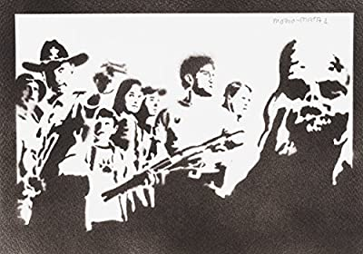 The Walking Dead 1 Handmade Street Art - Artwork - Poster