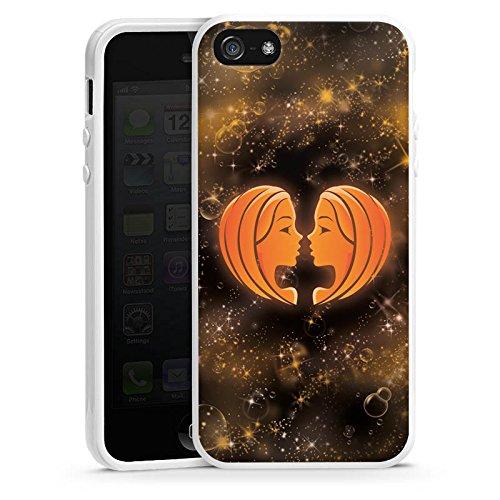 Apple iPhone 6 Housse Étui Silicone Coque Protection Signes du zodiaque Jumeaux Gémeaux Housse en silicone blanc