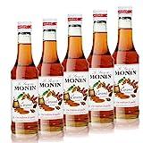 5x Monin Karamell / Caramel Sirup, 250 ml Flasche