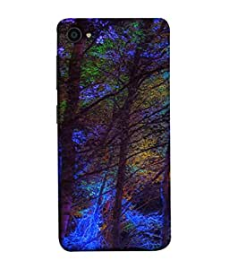 PrintVisa Designer Back Case Cover for Lenovo ZUK Z2 :: Lenovo ZUK Z2 Plus (Leaf Decoration Night Colorful Big)