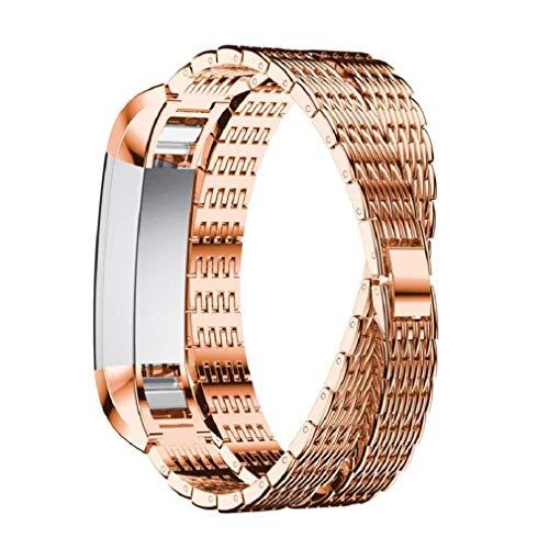 Fitbit Alta-Armband, Fitbit Alta HR-Band, Moeavan Double Long einstellbares Ersatzarmband für Fitbit Alta/HR Fitness-Armband (Gold)