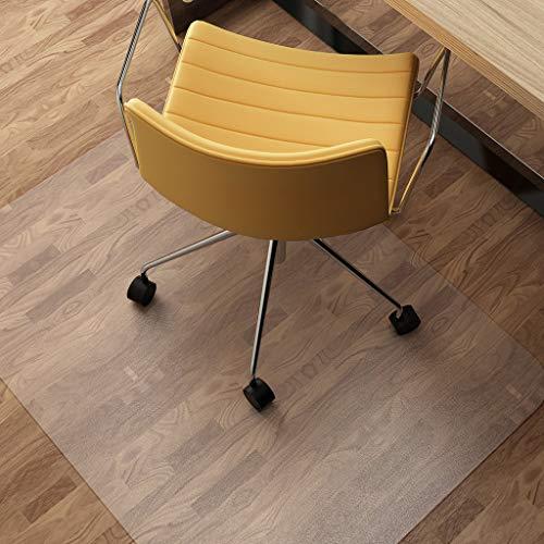 HUANXA PVC Teppich, Hartholzboden Bodenschutzmatte, Bürostuhl Bürostuhl Unterlage Anti-Rutsch Laden Transparent Schutzmatte Schiebestuhl Leicht-Scrub2.0mm-60x90cm(24x35inch)