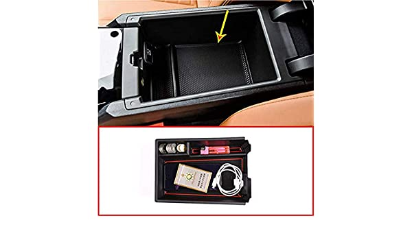 DIYUCAR Car Center Console Armrest Storage Box For 3 Series G20 G38 325 Year 2019 2020 With Colourful M LOGO