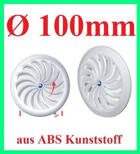Lüftungsgitter Abschlussgitter Insektenschutz rund Ø 100mm weiß ABS Lüfter T95 (Air Lüfter Duct)