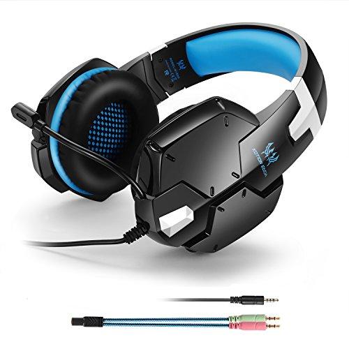 Gaming-Headset für Playstation 4, 3,5 mm, Stereo, Kopfhörer mit Mikrofon, Over-Ear-Kopfband, professionelles Headset