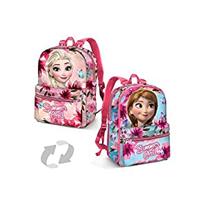 51KWP435bRL. SS300  - Karactermania Frozen Summer Chill Mochila Infantil, 31 cm, Rosa