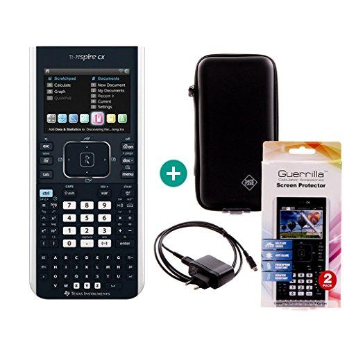 Texas Instruments Nspire CX + Ladekabel + Schutzfolie + Schutztasche