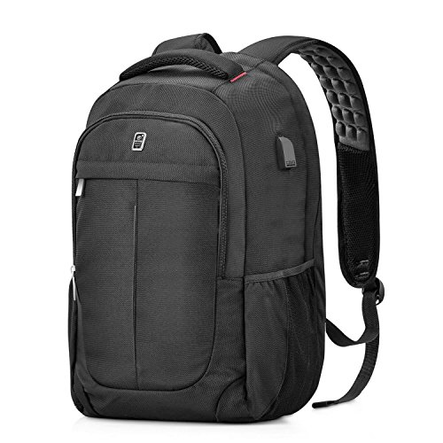Laptop Backpack, Sosoon Business Anti-Theft Laptop Backpack with USB Charging Port, Water Resistant Large Compartment College School Computer Bag for Men and Women for 15.6 Inch Laptop and Notebook