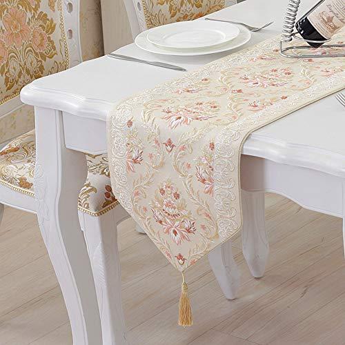 Kanqingqing Tischläufer Tischdecke Moderne einfache Tischfahne Dekoration Jacquard Streifen Tuch Kunst Kaffeetisch Tischdecke gelten für Familie Dekoration (Deckchen Für Kommoden)