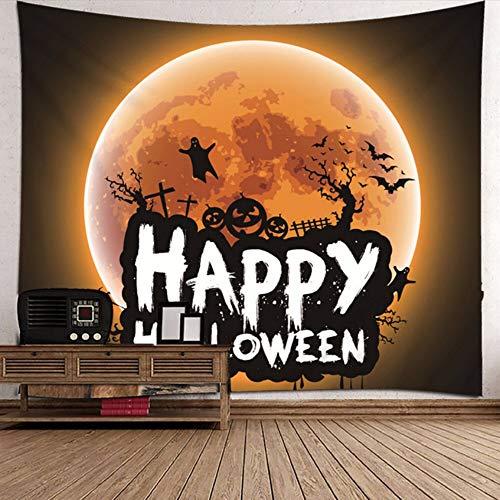 htteppichfledermaus-Geist-Europa und Amerika-Reihe Halloween-Stoff-Kunst-Wand-Hintergrund-230 * 150cm ()