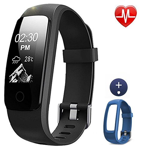 Activity Tracker, Lintelek Fitness Tracker Watch with Heart Rate Monitor, Touch Screen Waterproof Smart Watch, Stopwatch, Connected Running Watch with GPS, Bluetooth Pedometer for Android & iOS Smartphone