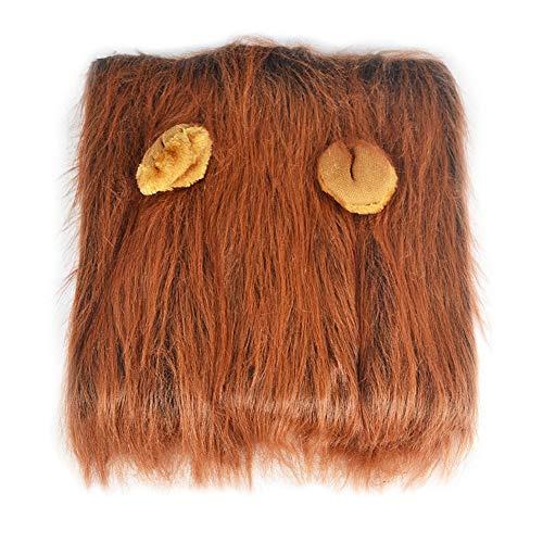 Löwen Kostüm Trägt Hunde - gohigher Haustierkostüm mit Löwenohrmähne Perücke für Hunde Halloween Kleidung Festival Verkleidung Dekoration