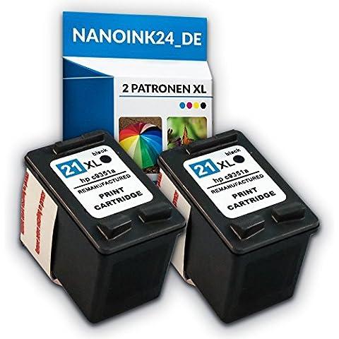 2x cartucce per HP 21XL Deskjet F380F370F4180F2180nei Nano