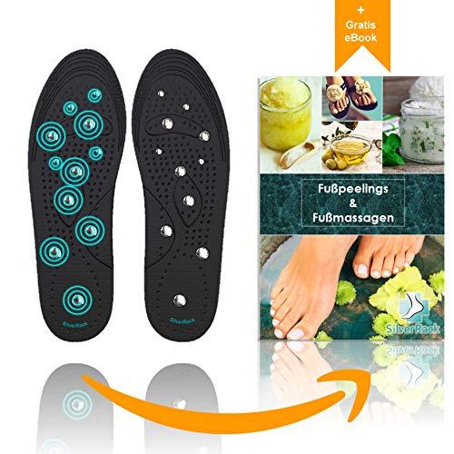 SilverRack magnetische Schuheinlagen und orthopädische Einlegesohlen zur Akupressur und Massage – Relaxed Feet-Einlagen Insoles gegen Fußschmerzen – Euphoric Feet –Damen und Herren L (40-46)