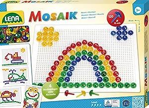 Lena Mosaik Set Transparent 15 mm 120 pcs - Kits de Mosaico (3 año(s), Niño/niña, Preescolar, Multicolor, 120 Pieza(s), Europa)