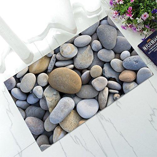 Paillasson antidérapant Tapis Tapis 3d Original Motif pierres fine de 40 x 60 cm de Open Buy
