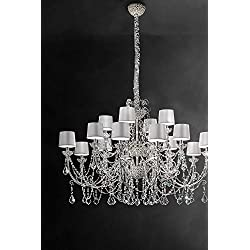 masiero Candelabros Imperials Plata A Mano, Made in Italy, Made with Crystal garlands