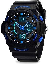 Orologi da polso sportivi per ragazzi - ragazzi 5 ATM sportivo impermeabile con orologio da polso sportivo orologio sportivo per bambini adolescenti - nero da VDSOW