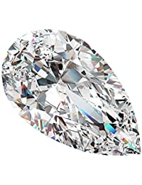 Neerupam Collection Weiß Zirkonia AAA Qualität 12x16 mm DiamantSchnitt BirneForm 50 pcs Lose Edelstein