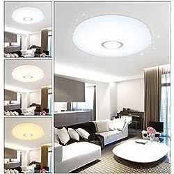 VGO 50W plafón Lámpara de techo LED Cielo estrellado Iluminación moderna Iluminación de techo Baño Iluminación continua económica Cambio de color Adecuado 3in1