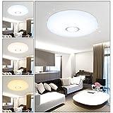 VGO® 50W LED Deckenleuchte Sternenhimmel Deckenlampe Farbwechsel 3in1 Wand-Deckenleuchte Mordern Wohnzimmer Deckenbeleuchtung Badezimmer Sparsame Dauerbeleuchtung