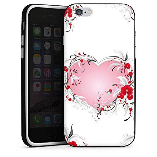 Apple iPhone 5 Housse Étui Silicone Coque Protection Amour Amour C½ur Heart Housse en silicone noir / blanc