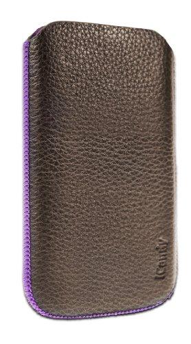 h Echt-Leder Classic Sleeve für Samsung Galaxy S III braun/lila ()