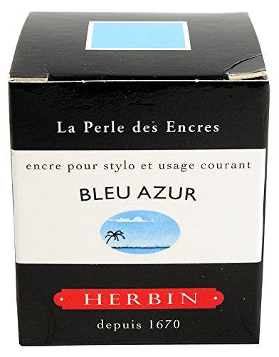 J.Herbin 13012T Tinte für Füller, 30 ml, azurblau