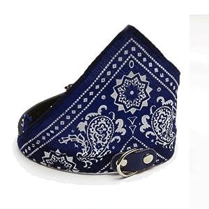 Collier réglable avec bandana pour chien–Petit–Bleu