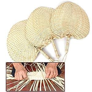 Handgewebter handgewebter Ventilator Handgefertigtes Cattail-Blatt-Handtuch, handgeschöpfter Palmblatt-Ventilator im natürlichen chinesischen Stil Exquisiter frischer Ventilator für den Sommer