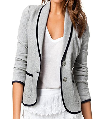 Hengsong-- Style European--Women Blazer Long Sleeve Suit Lapel Collar Slim Jacket Coat Outwear