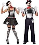 Coppia Donna e Uomo Gli artisti French Mime Theatrical Circus Performers Carnevale Costume Outfits