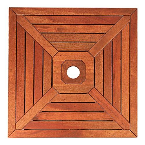 DELSCHEN Abdeckung für Sonnenschirmständer Sonnenschirmständer-Abdeckung 640 x 640 mm aus Holz...