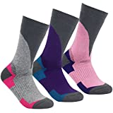 YUEDGE femme chaussettes/mi-bas multi-performance wicking anti-ampoules pour les sports de plein air randonnée trekking camping backpacking (3-Packs)