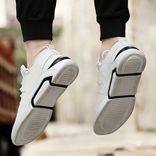GOMNEAR Chaussures de Course Légères Pour les Hommes Respirant Mesh Sneaker Pour Couple Marchant Athletic Outdoor Sports Décontractés Exercice Gris