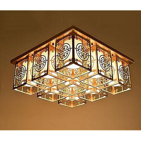 LINA-Europeo nuovo lampadario quadrato da salotto tessuto , e