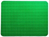 Large Block Building Baseplate 20 inches x 15 inches by The Wacky Warehouse (32 x 24 Studs) Green