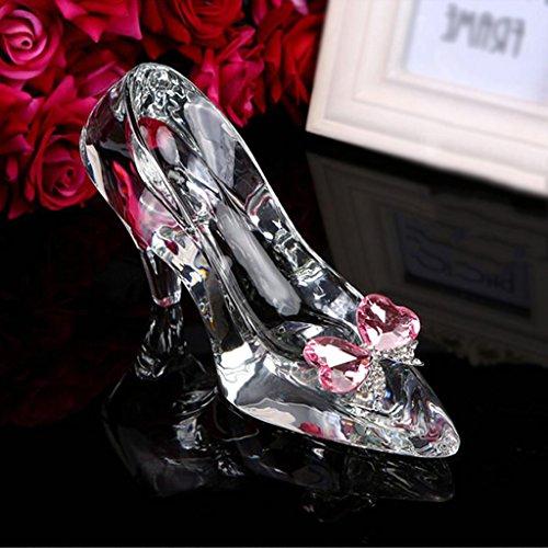 um, kreativer Kristall senden Seine Freundin Urlaub Geschenk 18 - jährige Erwachsene Zeremonie Cinderella transparente Kristall Schuhe ()