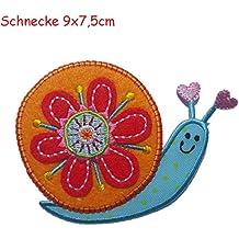 TrickyBoo 9X7,5Cm Caracol Apliques Infantiles Parches Bordados Estrella Remendando Ropa Regalos Mujeres lila carruaje