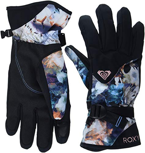 Roxy Jetty Guantes, Mujer, Azul (Button_Water of Love), S