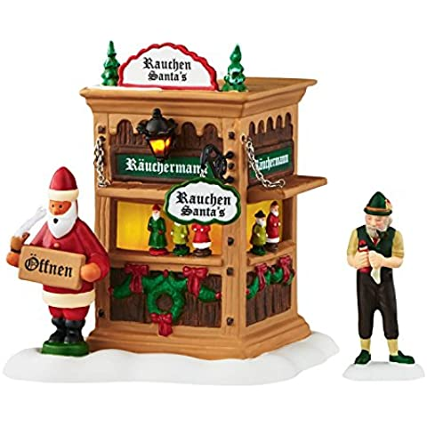 Department 56 Alpine Village Xms Market, Holiday Smoker Booth Accessory, 4.49