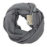 CADeN, bufanda de poliéster gruesa, suave y cómoda, unisex, se puede utilizar en diferentes escenas (gris)