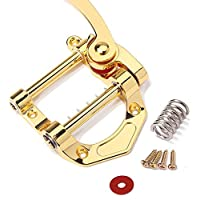Jazz puente de la guitarra eléctrica de cadena de tracción Sistema de vibrato Pequeño Rocker Rocker Adecuado for SG ES335 LP ETC Instrumento Partes Adecuado Accesorios (Color : Golden)