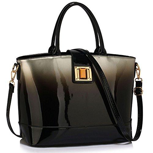 womens-handbags-ladies-designer-faux-leather-stylish-tote-shoulder-bag-silver-shoulder-bag