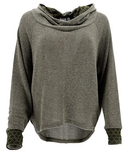 Guru-Shop Hoody, Sweatshirt, Pullover, Kapuzenpullover, Damen, Helles Khakigrün, Synthetisch, Size:S/M (38), Pullover, Longsleeves & Sweatshirts Alternative Bekleidung -